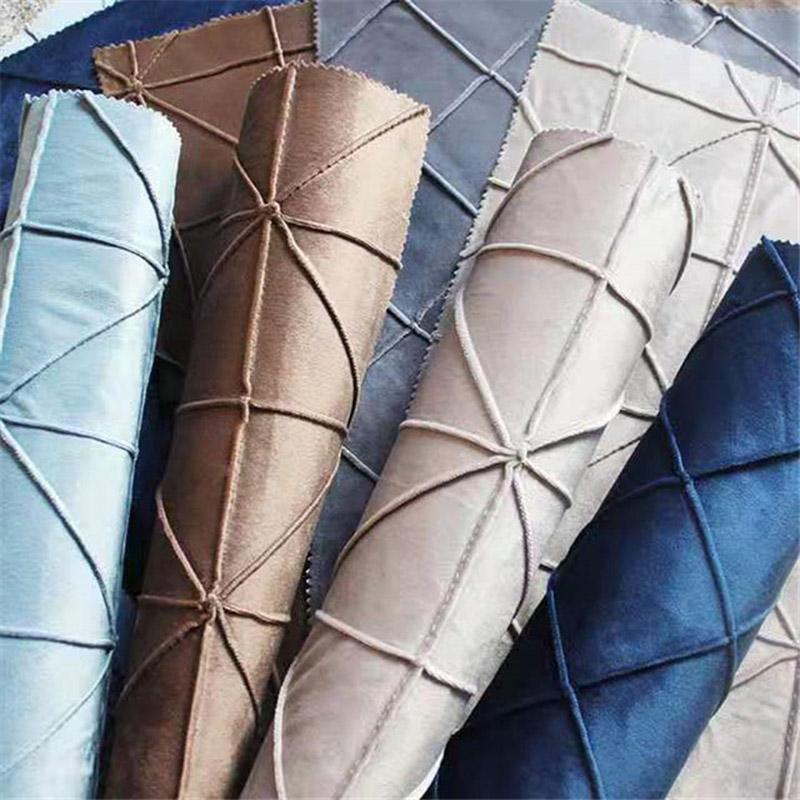 Tela de Cubierta de Almohada de Tartán de Mano Personalizada de Diseño de Poliéster de Tapicería Moderna