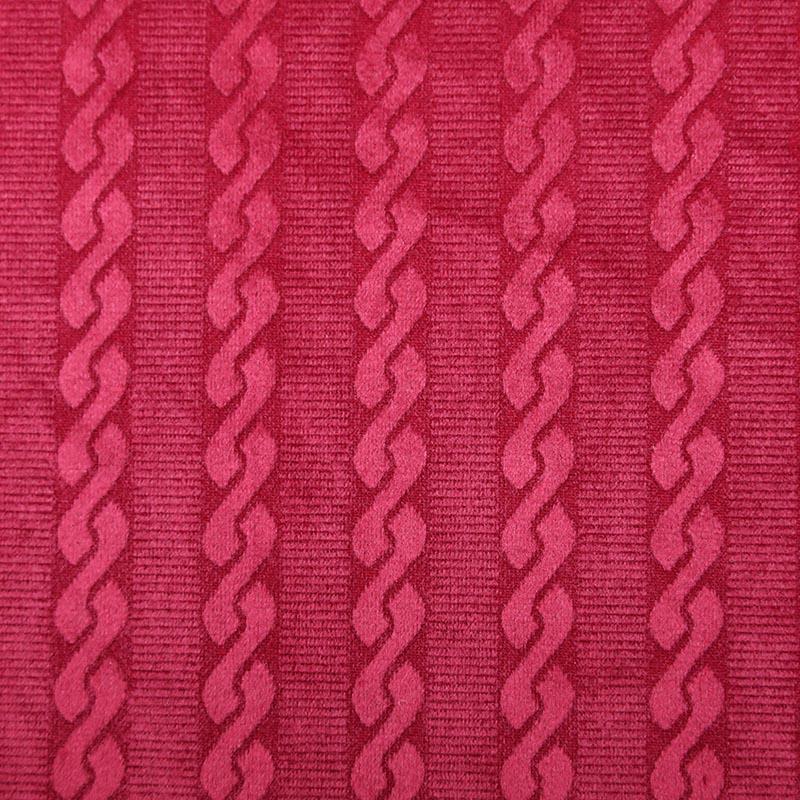Tela Roja de Tejido de Casa Lujosa de Poliéster de Tapicería Barata para Juegos de Sofá