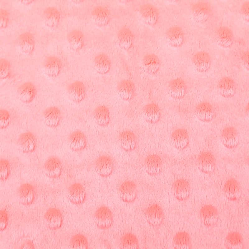 Tela Super Suave Minky en Relieve al por Mayor Rosa Impresa de Poliéster para Manta de Bebé
