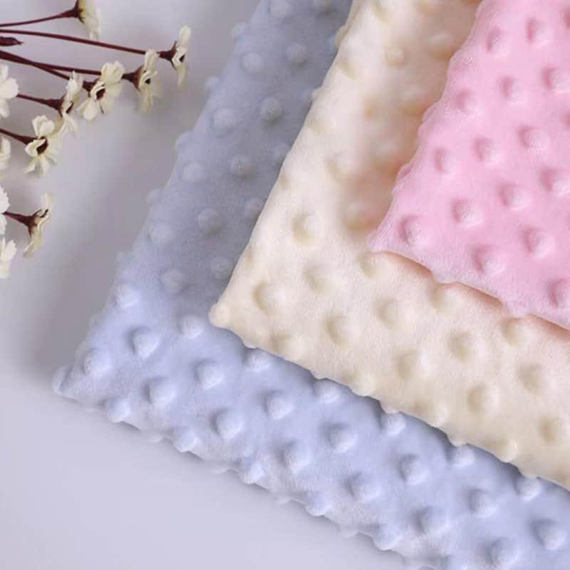 Tela de Manta Minky Suave de Microfibra en Relieve al por Mayor de Tejido de Casa de 100% Poliéster